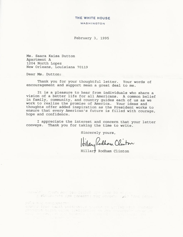 HRC letter